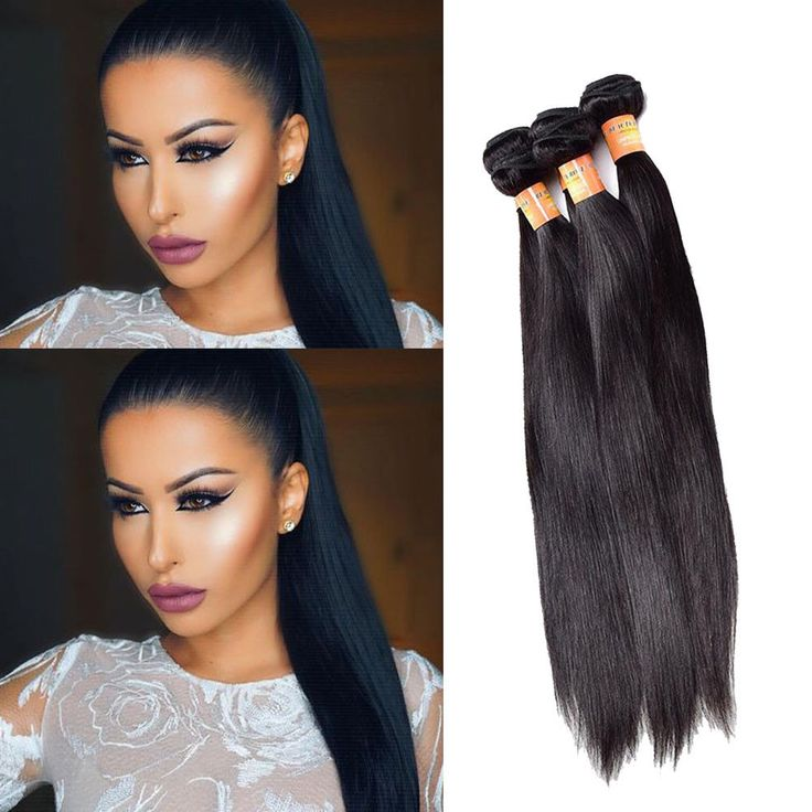 "10""-22"" 100g/Bundle Brazilian Real Human Hair Extension Straight Hair Weft Black #Unbranded #StraightBundle"