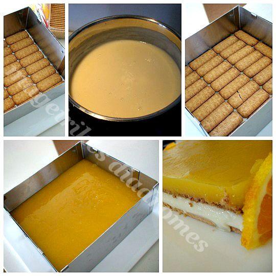 Γλυκό ψυγείου με πορτοκάλι