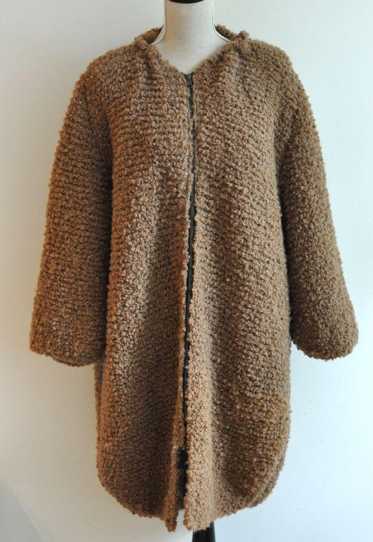 Mormorrut's teddy coat. Hand knitted coat/cardigan. Pattern at www.mormorrut.nu.