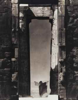 Christie's - Lot 244; SALE 12626 — 17 - 18 February 2016 New York; Edward Steichen (1879-1973) Isadora Duncan at the Portals of the Parthenon, 1921 toned gelatin silver print, flush-mounted on board, printed 1960s signed in pencil (recto); signed, titled, dated in pencil with print date, Joanna Steichen's initials, inscription 'On loan for exhibition in/Australia/Please return to Museum of Modern Art/31 West 53rd St/n. y. c.' and various annotations in pencil (verso) image: 13 3/4 x 10 5/8…