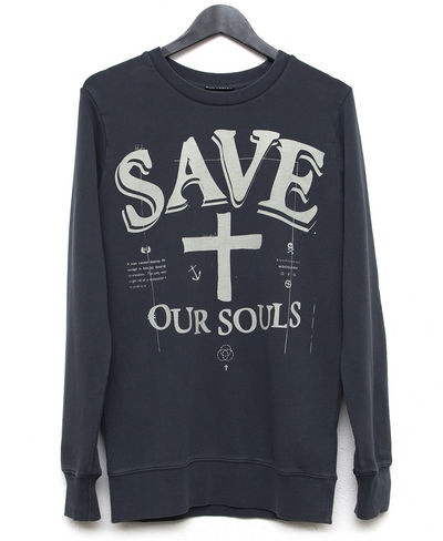 Kiss Chacey SOS Crew (Faded Black) $109.95