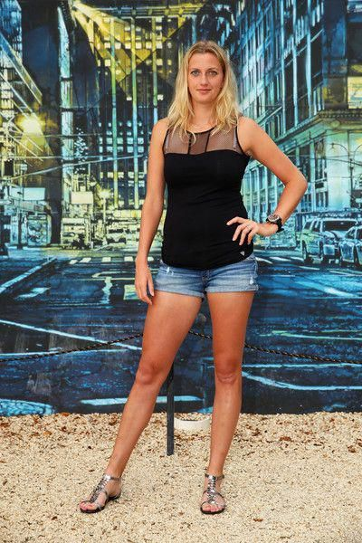 0b05724aef98 Petra Kvitova Photos Photos - Petra Kvitova of the Czech Republic poses for  a photograph at the Wynwood Walls in Miami during the Miami Open Presented  by ...