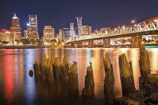 Portland City Skyline by Matthew Tauzer