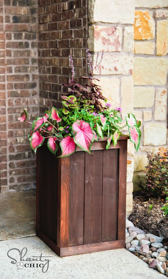 Planter Box DIY - ana white and shanty-2-chic, the perfect combo!