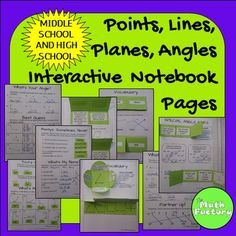 Expressions Interactive Notebook: This is a set interactive notebook pages for expressions that addresses the beginning vocabulary and concepts for geometry.Skills covered include:* Segment, point, line, ray definitions and figure notation* Plane, skew lines, intersecting lines, parallel lines definitions and figure notations* Naming figures* Acute angle, obtuse angle, right angle, straight angle, perpendicular lines definition and identification* Parts of an angle* Estimating angle…