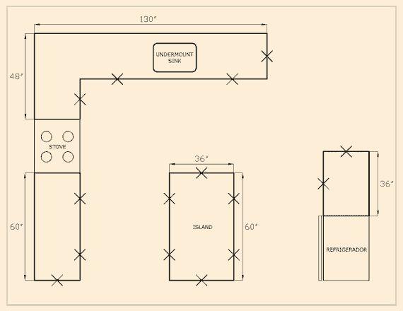34 Best Kitchen Dimensions Images On Pinterest Small Kitchens Floors Kitchen And Kitchen Floors