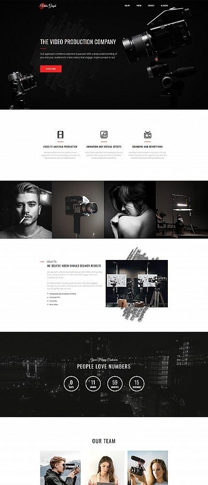 Videographer MotoCMS 3 Landing Page Template ZOOBA Pinterest