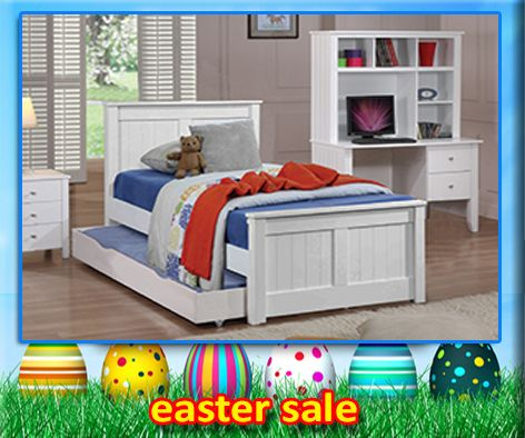 Cody Trundle Bed features straight lines and a solid head and foot boards which make the Cody a modern beauty. This model is very popular for all ages of boys and girls. Single and King Single available.