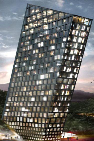 TLT Tilting Building by BIG (Bjarke Ingels Group)