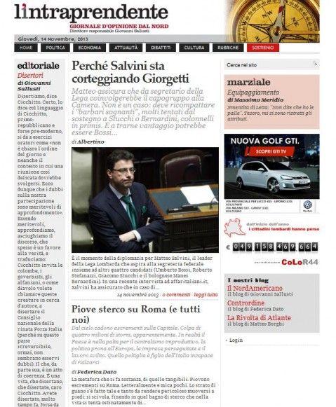 La prima pagina di oggi www.lintraprendente.it