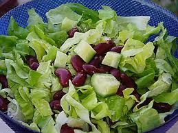 salad with red beens.