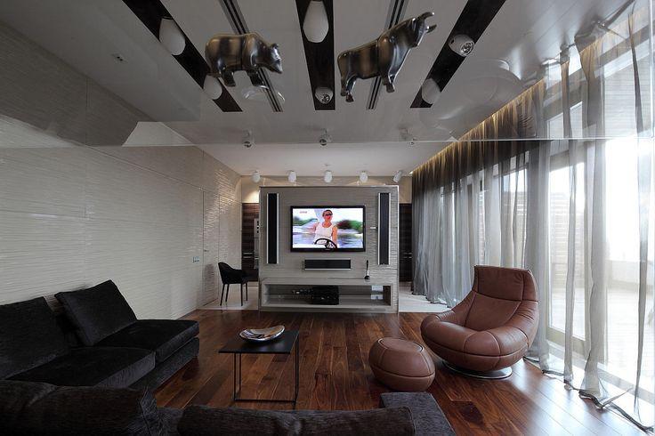 Гостиная, холл в цветах: черный, серый, светло-серый, белый, темно-коричневый. Гостиная, холл в стиле минимализм.