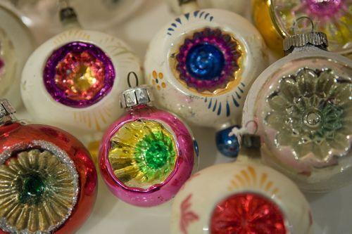vintage christmas balls