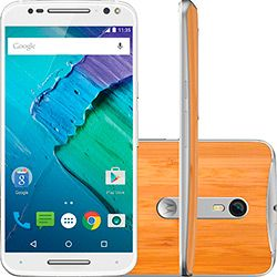 foto: Smartphone Motorola Moto X Style Dual Chip Desbloqueado Android 5.1.1 Tela 5.7 32GB 4G 21MP - Branco com Bambu