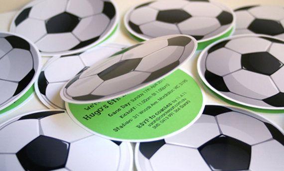Soccer Ball Invites by BMeDesignsInc on Etsy, $20.00