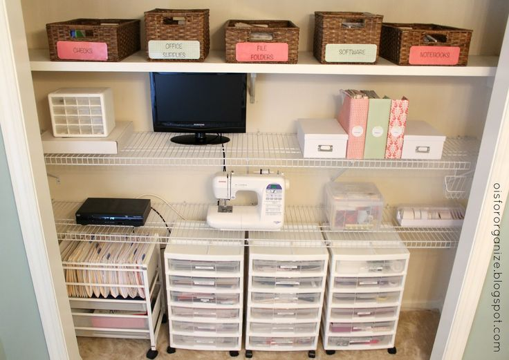Craft Closet Organization Ideas Part - 28: O Is For Organize.: A Crafty/Office Closet