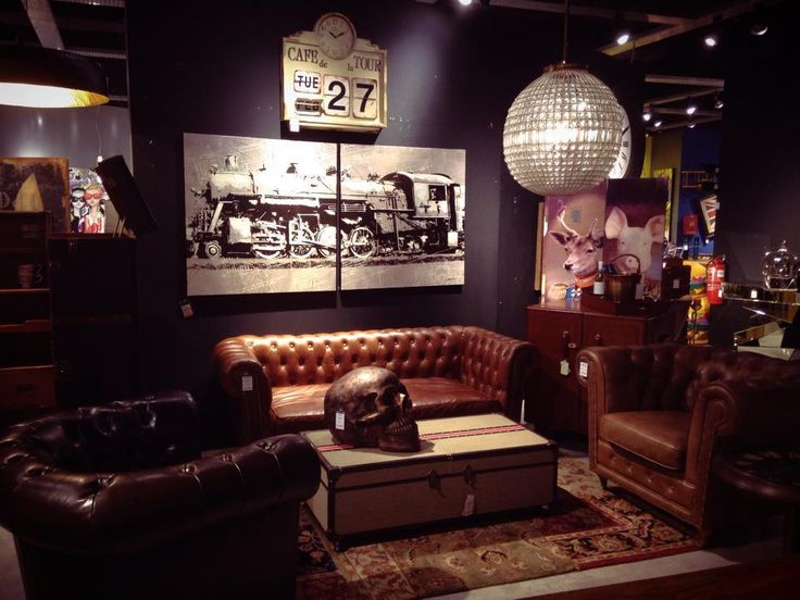 Best Industrial Steampunk Living Room Images On Pinterest - Steampunk living room