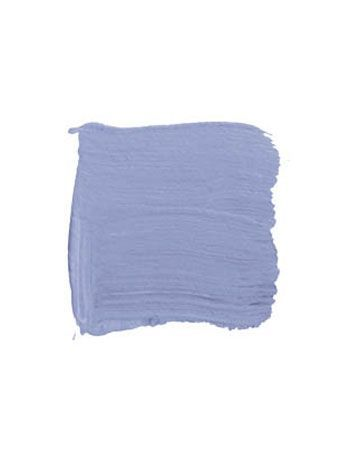 "BENJAMIN MOORE ORIENTAL IRIS 1418: ""I'm emotionally attracted to periwinkle blue. It's soothing and serene and metamorphic, because it goes from gray into blue into lavender, depending on the time of day and the month of the year and the person looking at it. No two people see color the same way. Blue combines two things I love, the ocean and the sky, which lifts me out of the quagmire of reality."" - John Saladino"