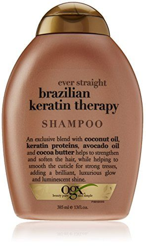 OGX Shampoo, Ever Straight Brazilian Keratin Therapy