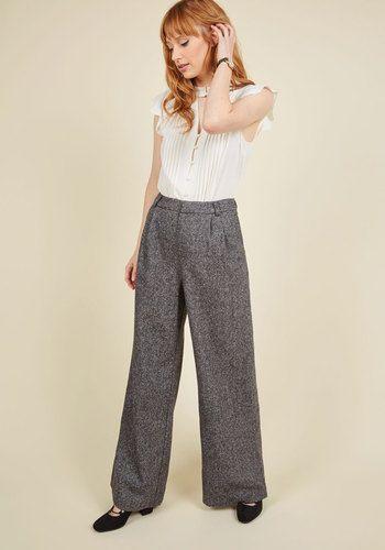 Retro vintage high waist wide leg pants