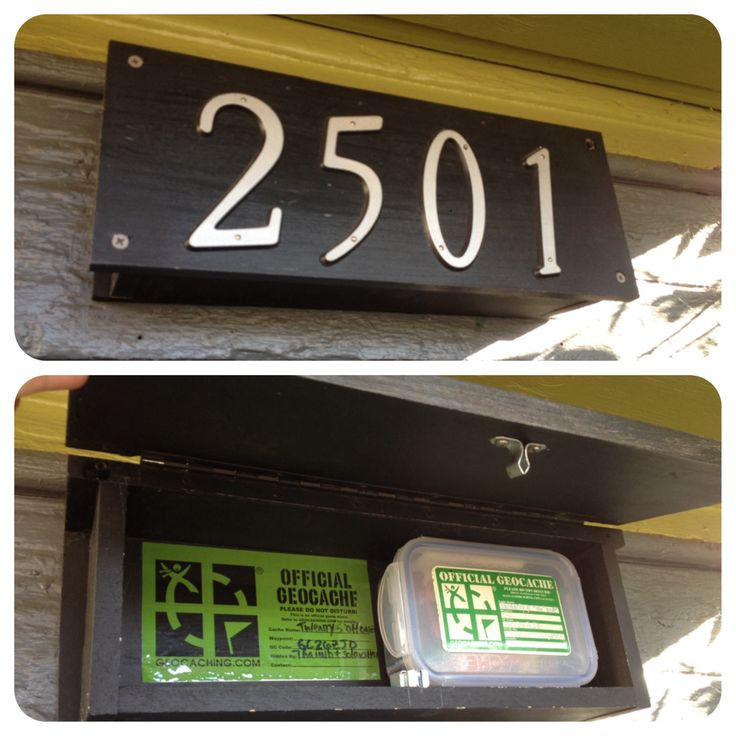 Clever cache hidden in address numbers above a business door