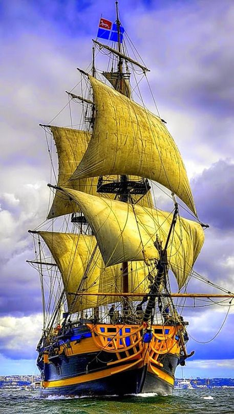 Tall Sailing Ship by Gina van de Greif