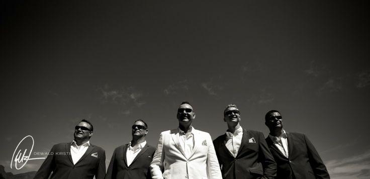 Groom and bestmen. Lourensford Wedding - Pierre & Shannon