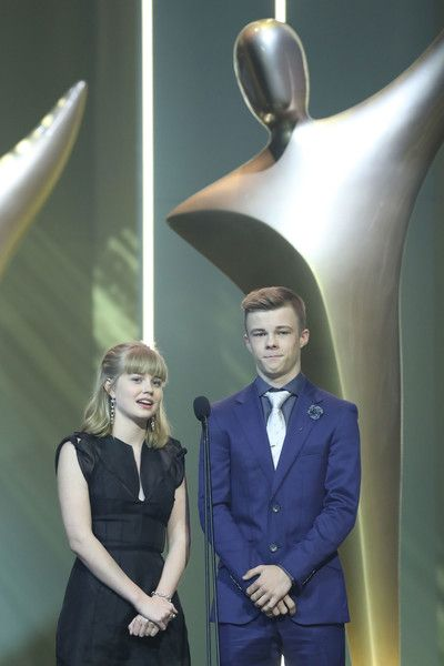 Nicholas Hamilton Photos - Angourie Rice and Nicholas Hamilton present the AACTA Award for Best Television Drama Series during the 7th AACTA Awards Presented by Foxtel | Ceremony at The Star on December 6, 2017 in Sydney, Australia. - 7th AACTA Awards Presented by Foxtel | Ceremony