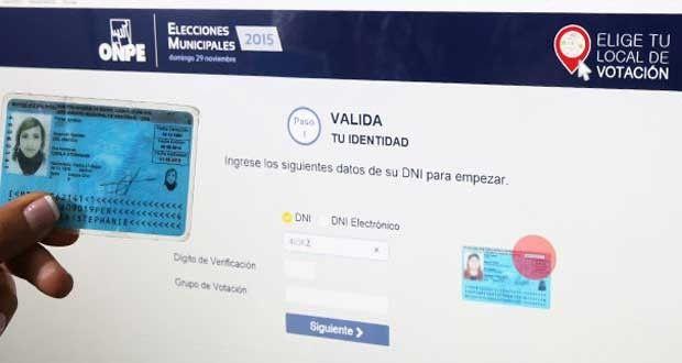 Electores podrán escoger lugar de votación