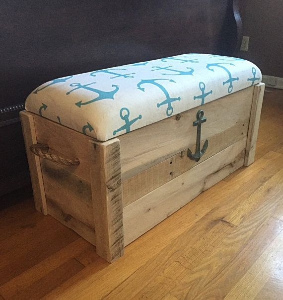 Toy box Nautical Anchor Hope chest by TheDavidsonDesign                                                                                                                                                      More