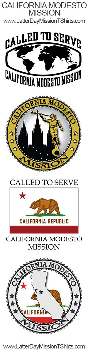 There were 11 New LDS Missions announced at the beginning of 2015.  Here are samples of our California Modesto Mission designs.  Buy LDS Mission Clothing, T-Shirts and Gifts at www.LatterDayMissionTShirts.com