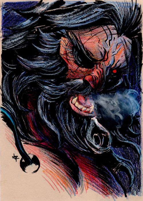 Weapon X [Black ink, color pencils & white wax pastel on A5 250g natural] #wolverine #weaponx #logan #jameshowlett #xmen #mugofink #inking #colorpencils