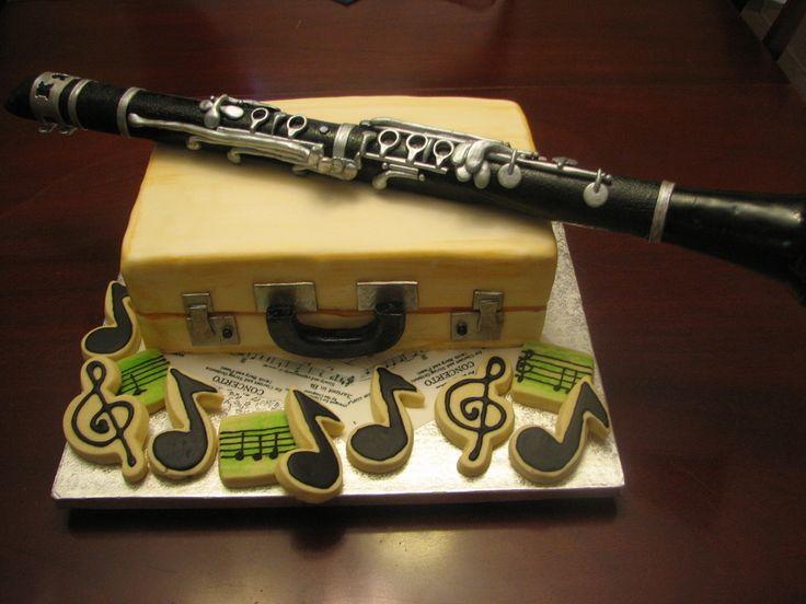 Gumpaste Clarinet Amp Case Clarinet Music Cakes Gum Paste
