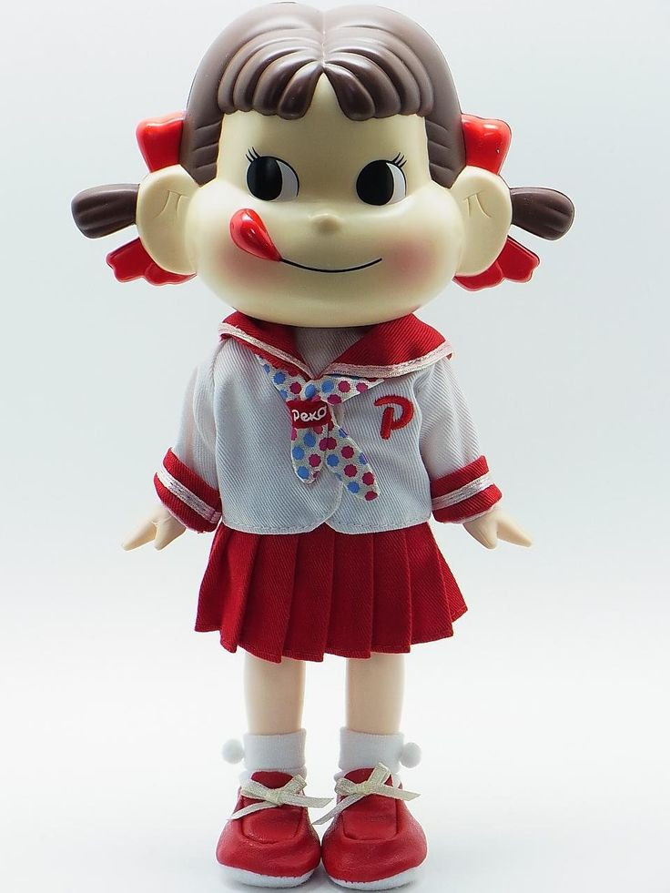Fujiya Milky Peko doll — School uniform