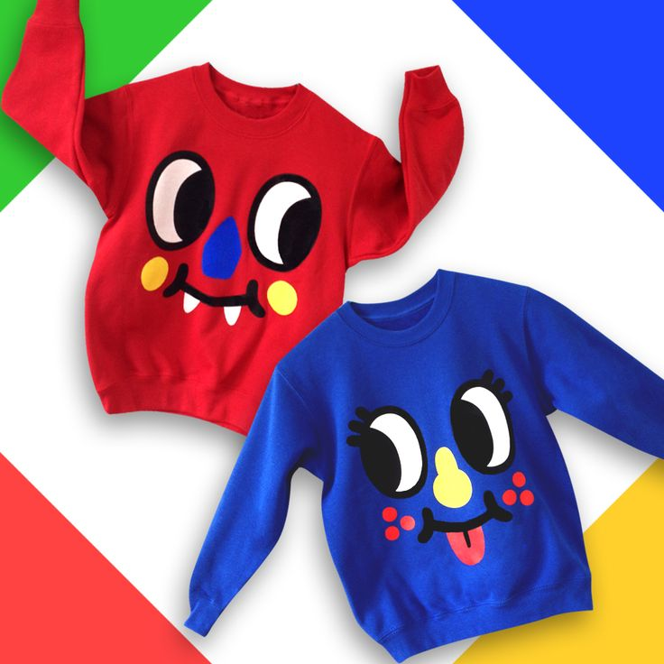 Inky & Blinky sweatshirt are available also for kids!!!!