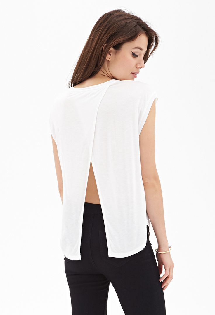 Tulip-Back Batwing Top #F21Contemporary