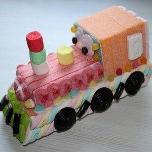 Locomotive en bonbons 3D