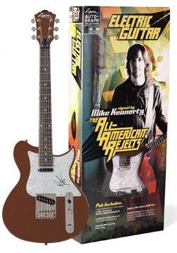 RARE - Mike Kennerty of The All-American Rejects Limited Edition Authentic Autographed Washburn Electric Guitar Pack Set. Limited Edition Electric Guitar Signed by Mike Kennerty of The All-American Rejects. Certificate of Authenticity with One-Of-A-Kind Serial Number. Signature Mike Kennerty Guiter Picks. Authentic Mike Kennerty Guitar Strap. Collector's Poster & Sealed in designer collectors box.