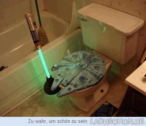 Poop, I Am Your Father! - Star Wars,WC,Toilette,Sitz,Laser,Schwert,Pümpel,Haus,Einrichtung,Bad,Stuhlgang,kacken,Fan,Film,Kino,basteln