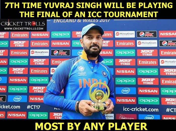 Yuvraj Singh The Champion! #CT2017 #INDvPAK #PAKvIND For more cricket fun click: http://ift.tt/2gY9BIZ - http://ift.tt/1ZZ3e4d