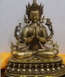 >> Click to Buy << Tibetan Buddhist bronze AVALOKITOSHVARE GUANYIN KWAN YIN buddha statue 28 cm 2.7 KG #Affiliate