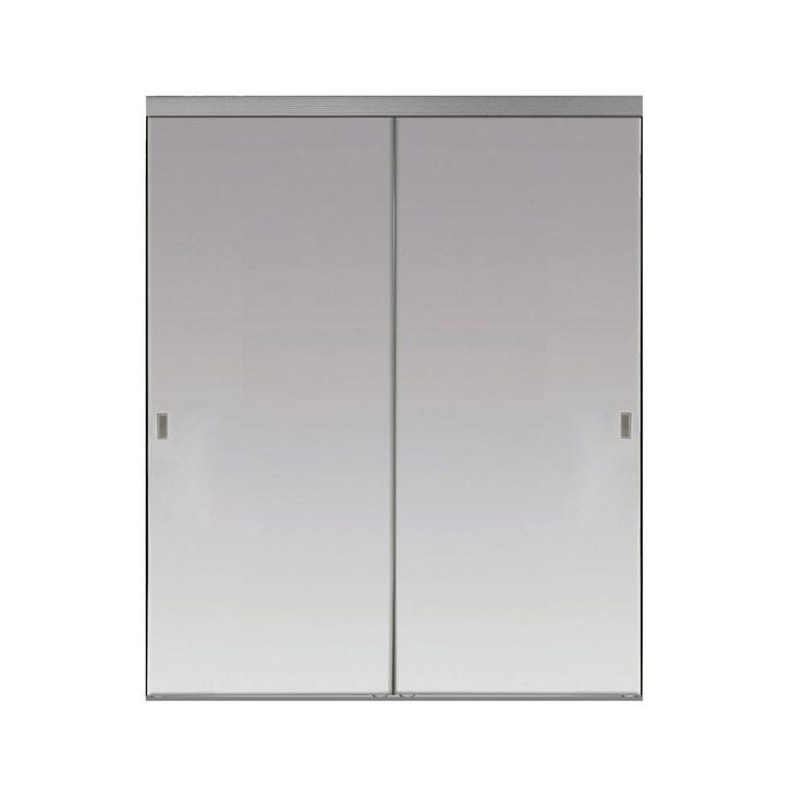 Impact Plus 48 in. x 80 in. Beveled Edge Backed Mirror Aluminum Frame Interior Closet Sliding Door with Chrome Trim