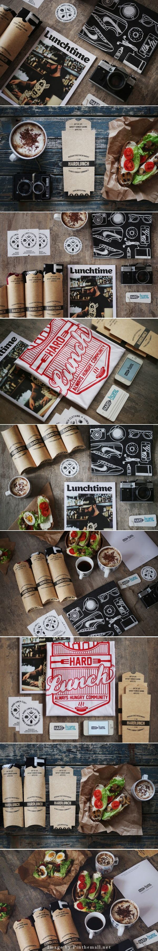 Hard Lunch T-Shirt. Lunch or apparel? #branding #identity #design (Join design group board at https://www.pinterest.com/aldenchong/just-a-board-of-designs/)
