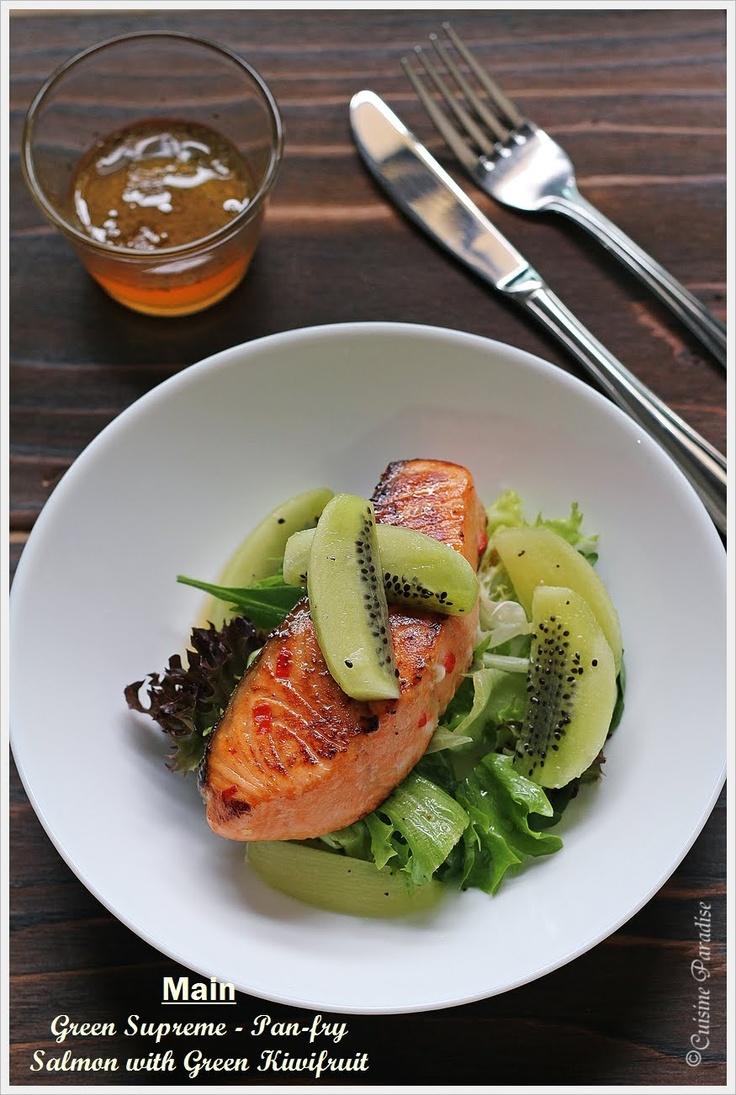 Pan-Fry Salmon with Green Kiwifruit!