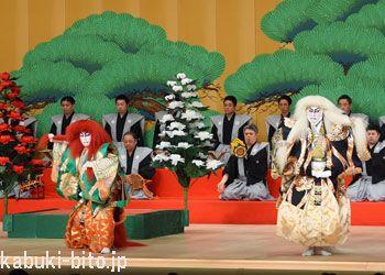 『連獅子』 左より、坂東巳之助、市川海老蔵