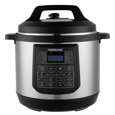 Farberware 8-Quart Pressure Cooker, Silver