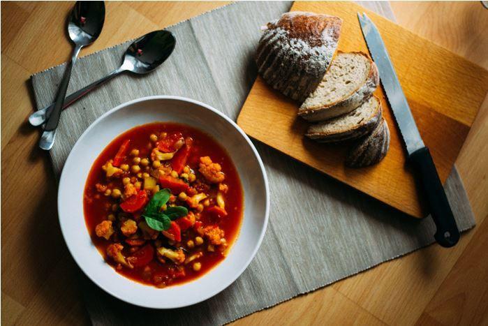 Marocká cizrnová polévka