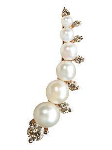 ANNOUSHKA Diamonds & pearls left ear pin