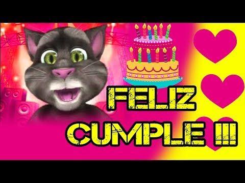 GATO TOM FELIZ CUMPLEAÑOS - YouTube