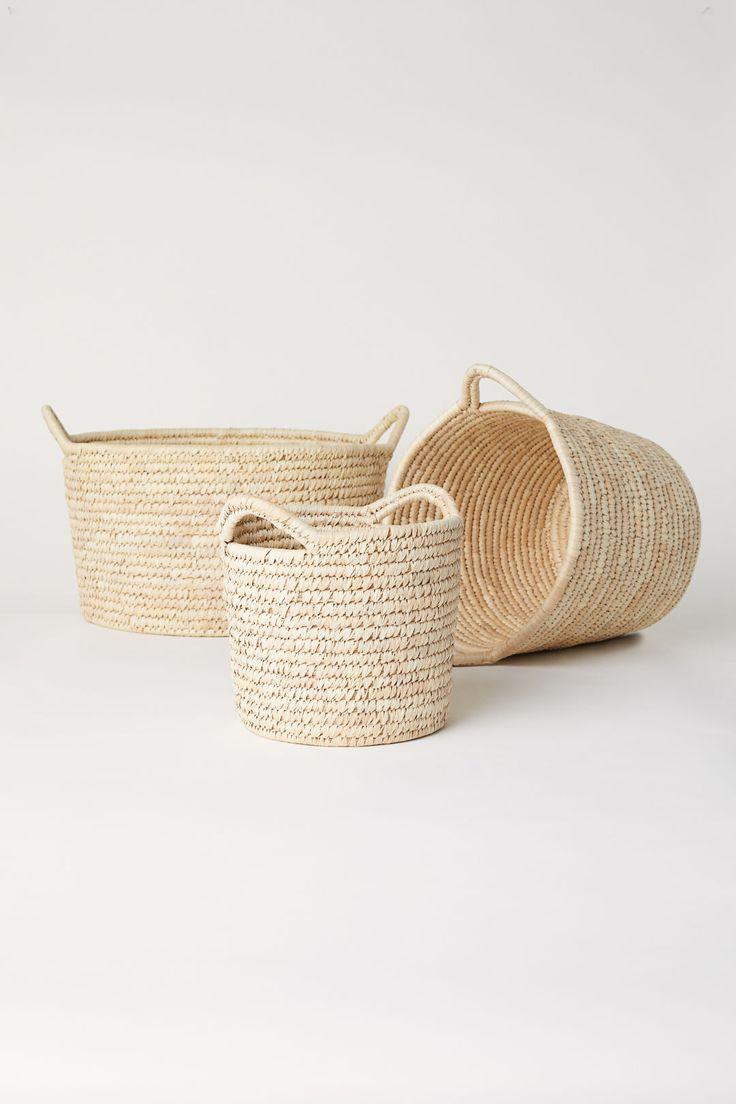 Large storage basket - Natural - Home All | H&M GB 3